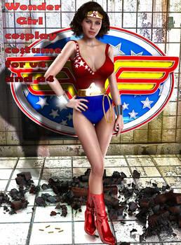 Wonder Girl cosplay costume for V4