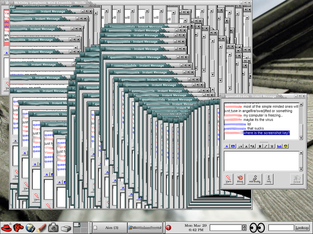 Virus-infected screenshot by lllllllllllllllll