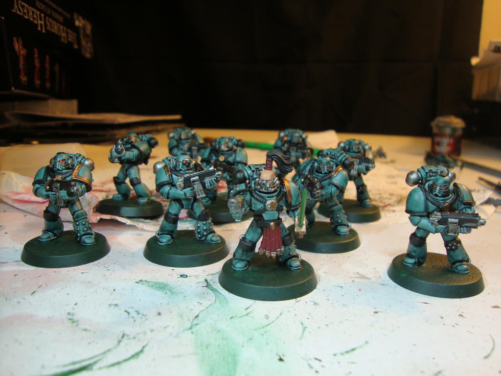 Sons of Horus - Tactical Squad (WIP) by Quiet-Lamp