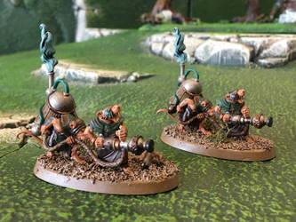 Clan Cherno - Skaven Warpfire Thrower Weapon Teams by Quiet-Lamp