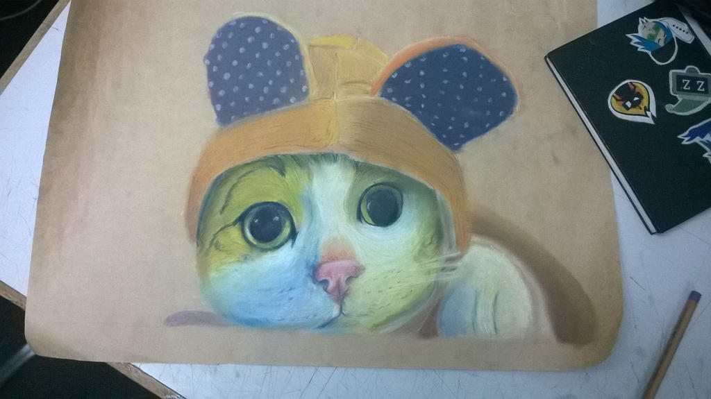 I Hate Chalk cat, incomplete by NikolaiSirone