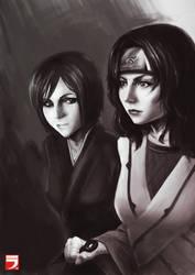 Nozomi and Yuhi by Layerx3