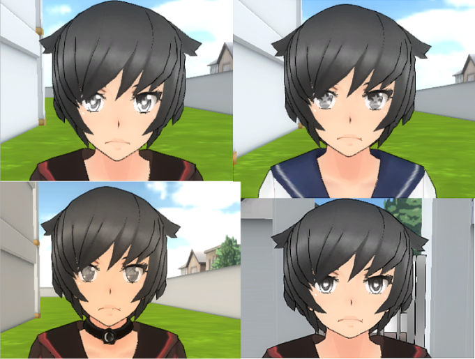 Yandere Simulator Eye Pack 4 Styles By FloorcakeLOL