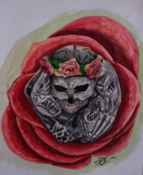 Watercolor Practice: Zombie boy