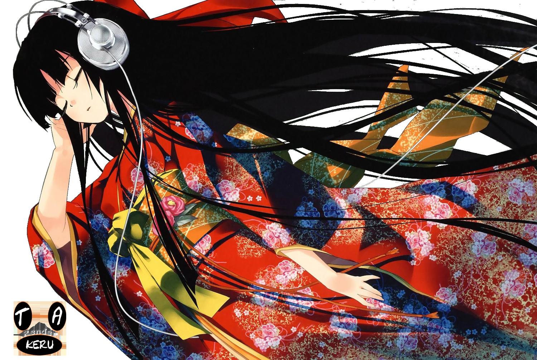 HeadphoneKimonoGirl by Takeru-Yukiri