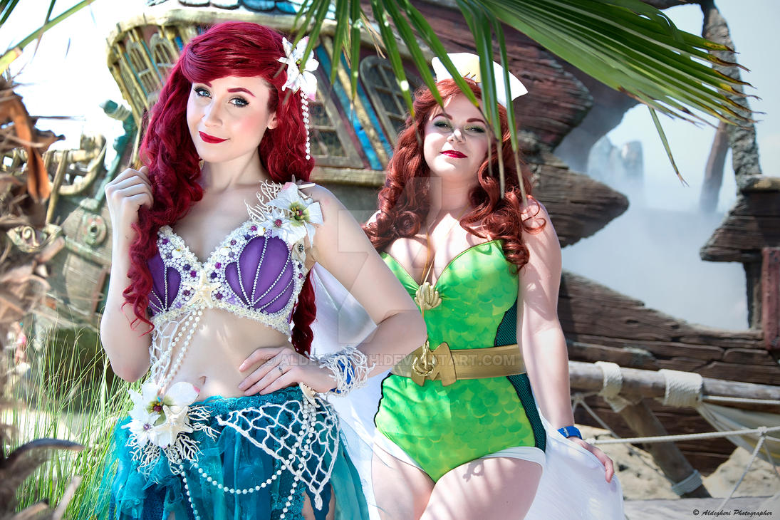 Ariel And Mera Bombshell Cosplay by aldechanPH