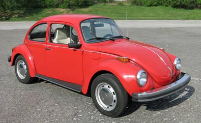 Red 1974 volkswagen beetle by Godzilla2137