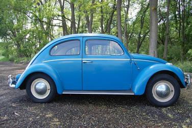 Blue 1960 volkswagen beetle by Godzilla2137