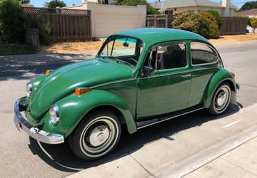 Green 1970 volkswagen beetle by Godzilla2137