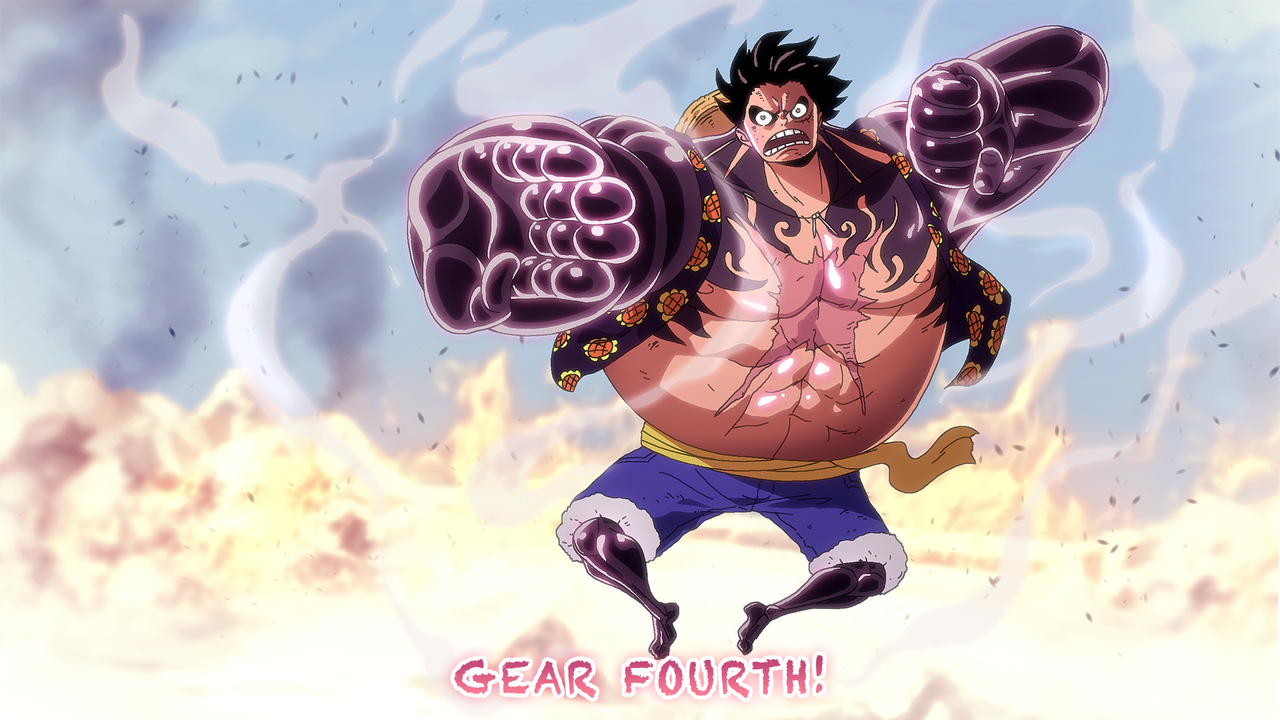 One Piece Wallpaper Luffy Gear Fourth Gear Fourth One Piece