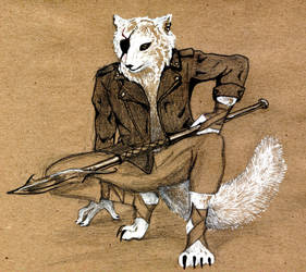 Arctic fox by Shroe-desu