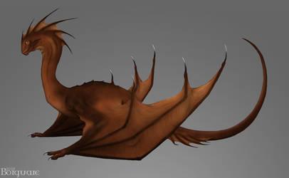 Dragon concept art by Borguare