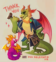 Spyro and Nestor by creekstufflings