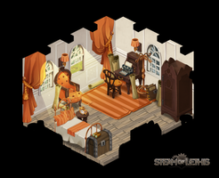 Orange Room by Steam-of-Lethis