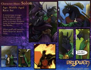 Character Sheet- Solon
