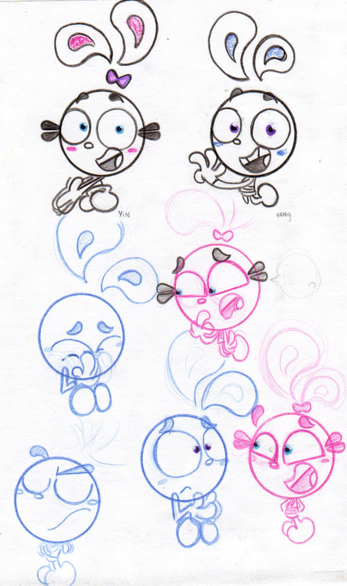 yin yang  yo draw by Pink4ever-yin