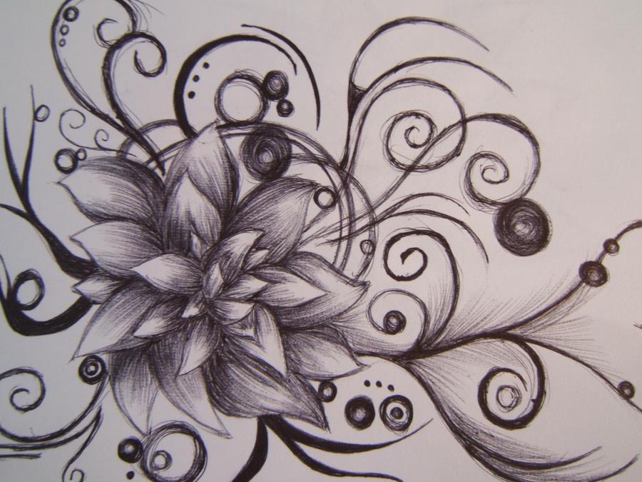 Lotus Flowers Drawings Lotus Flower by Firsty...