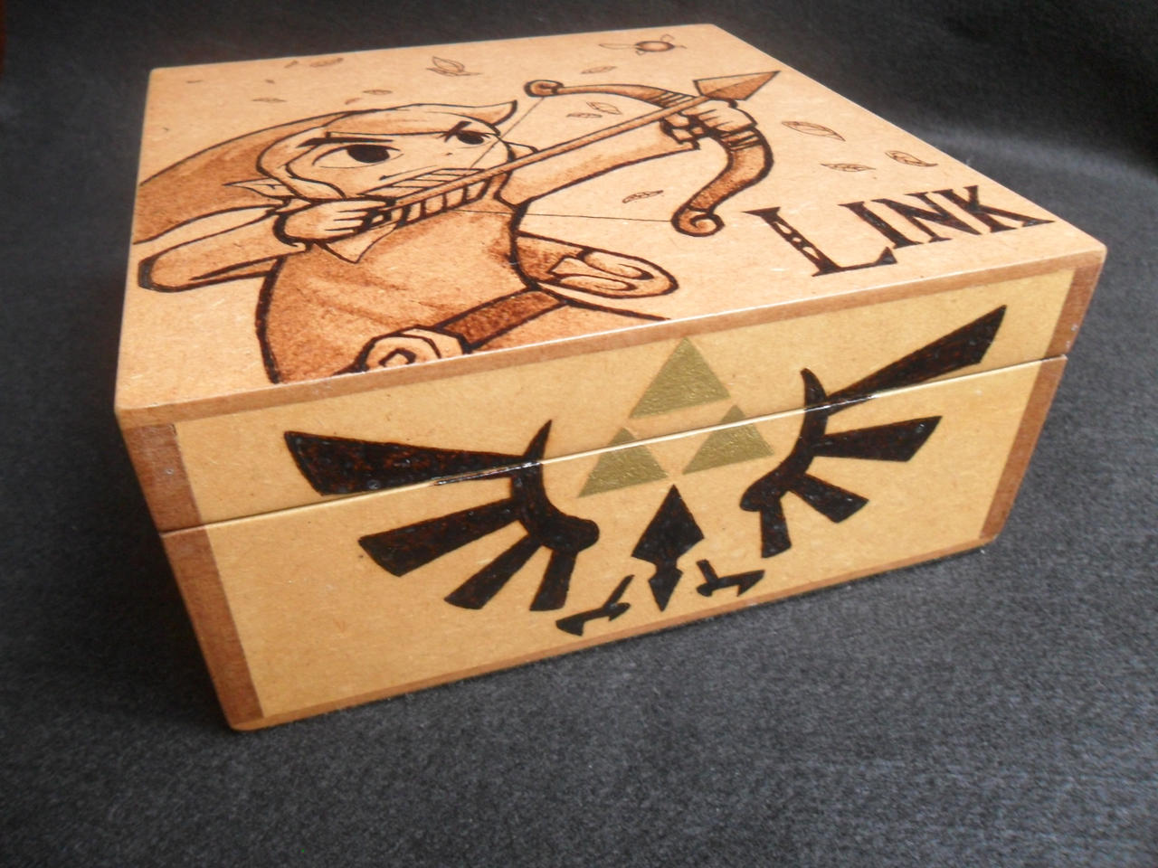 Wood Box: Toon Link [Pyrography / Woodburning] by dcmorais ...