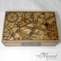 Fullmetal Alchemist [Pyrography / Woodburning] by dcmorais