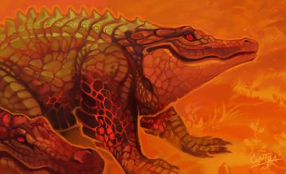 Fire Gators by KristenPlescow
