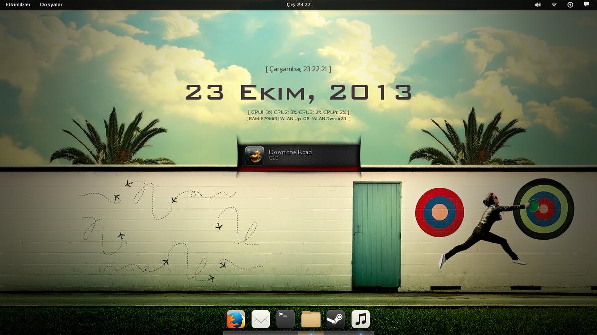 Fedora 19 Gnome Desktop by TaylanTatli