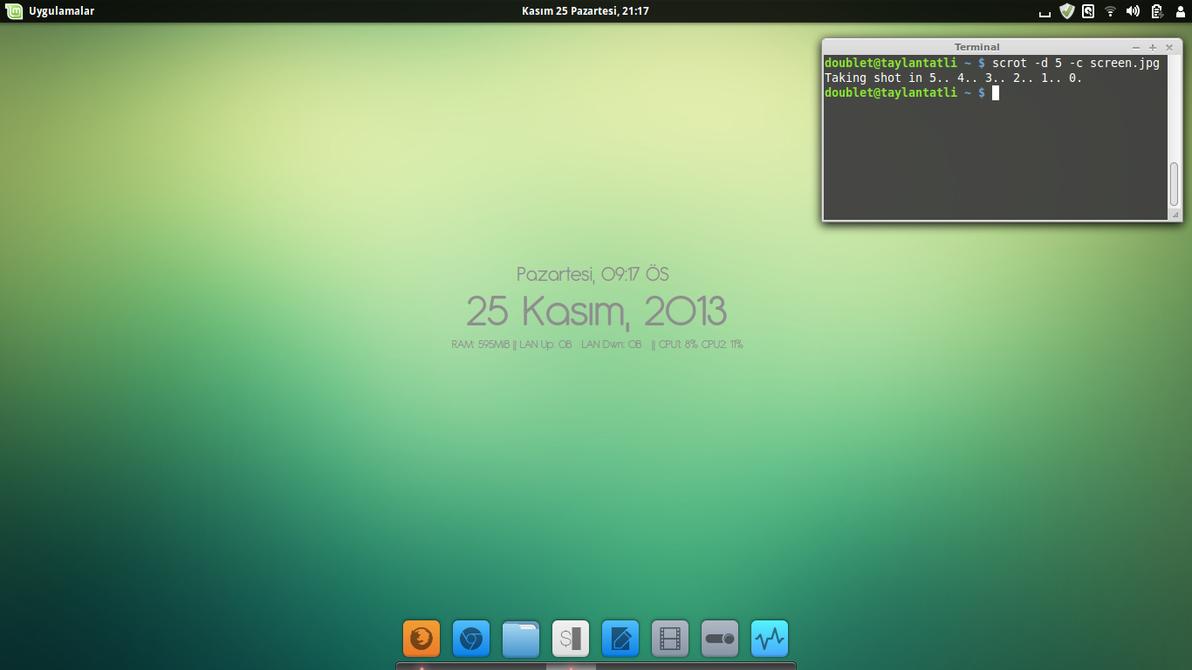 Linux Mint 16 Petra , Cinnamon by TaylanTatli