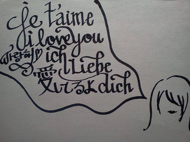 Calligraphy practice i love you by linksgirl on