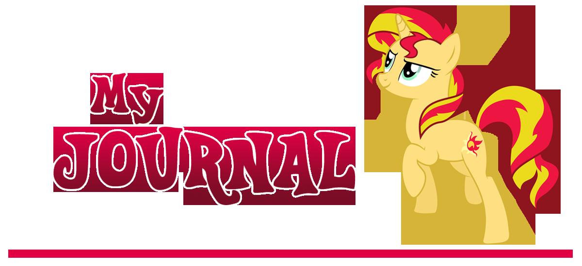 Sunset Shimmer Journal Banner by Outlaw-Marston