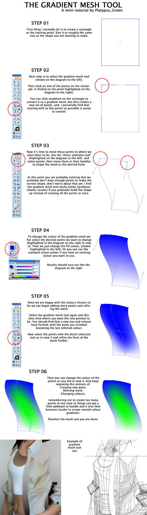 Illustrator gradient mesh by PlatypusGreen