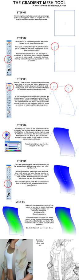 Illustrator gradient mesh