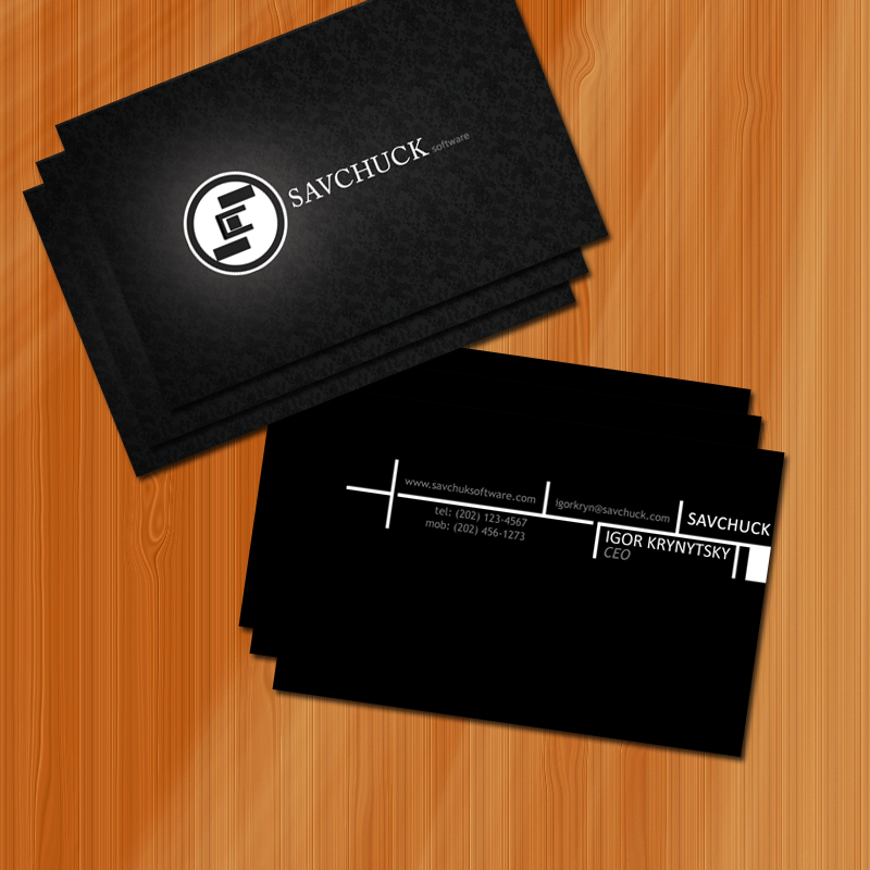 savchuck business card by manujg