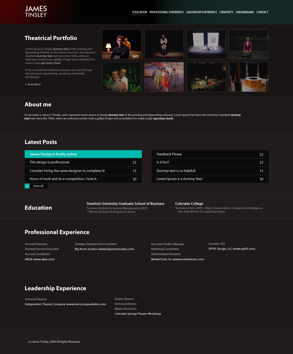 Resume website by manujg