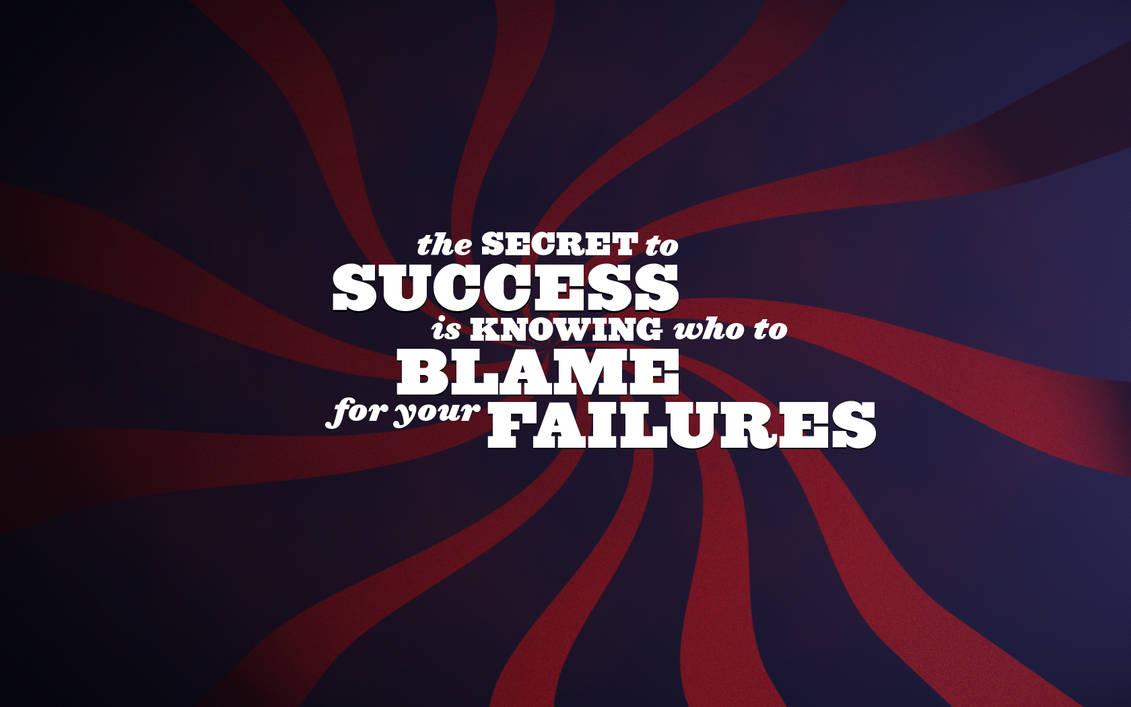 success blame failures by manujg