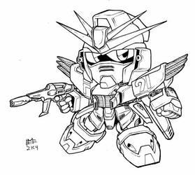 SD F-91 Gundam lineart