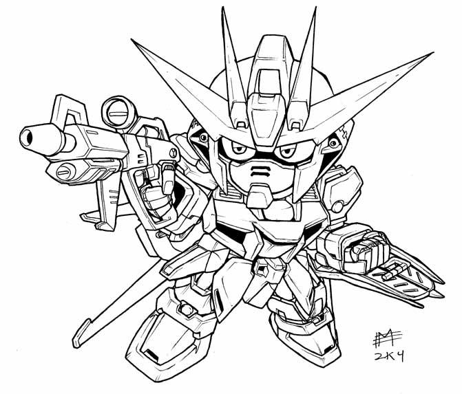 sd air strike gundam lineart by mintyrobo on deviantart