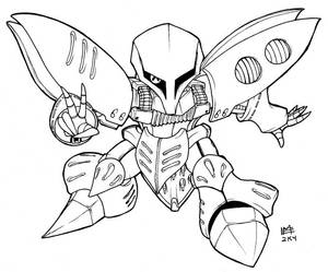 SD Qubeley lineart