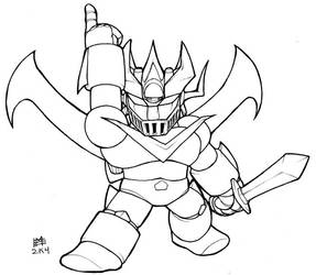 SD Great Mazinger lineart