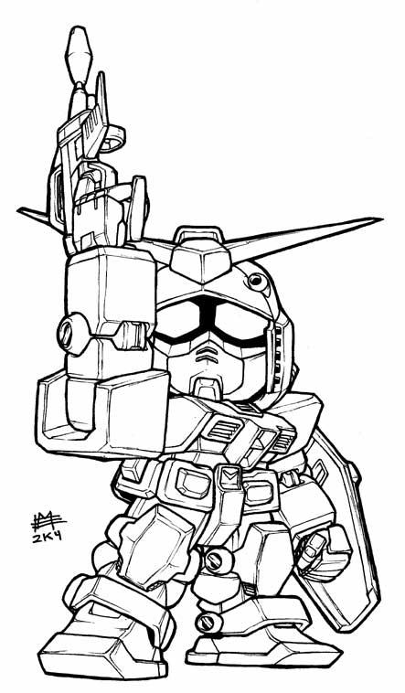 SD RX-78-2 Gundam Lineart by Mintyrobo on DeviantArt