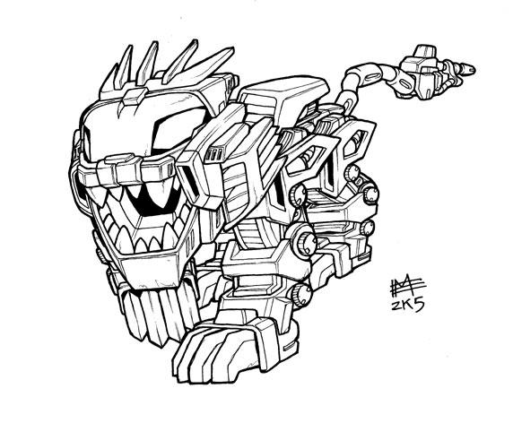 Sd Liger Zero Lineart By Mintyrobo On Deviantart