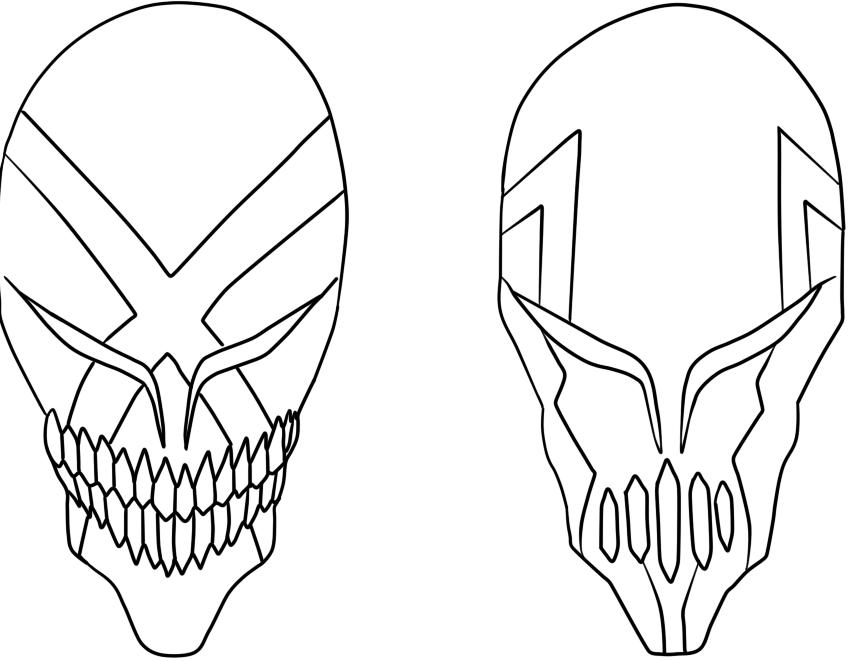 Bleach Mask Drawing Bleach Hollow Mask Designs