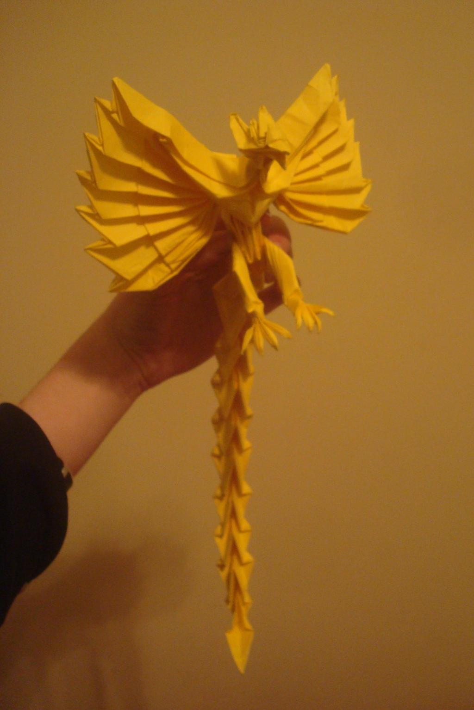 Origami phoenix by MasonAndAGhast