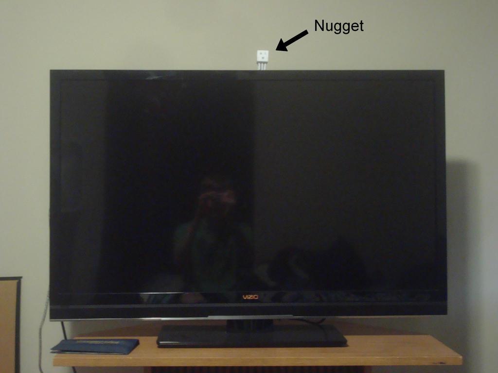 Nugget on a big TV by MasonAndAGhast