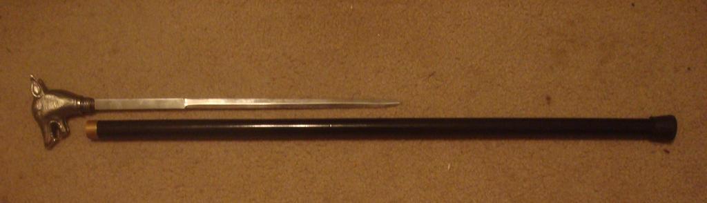 My new cane w/ hidden blade! by MasonAndAGhast