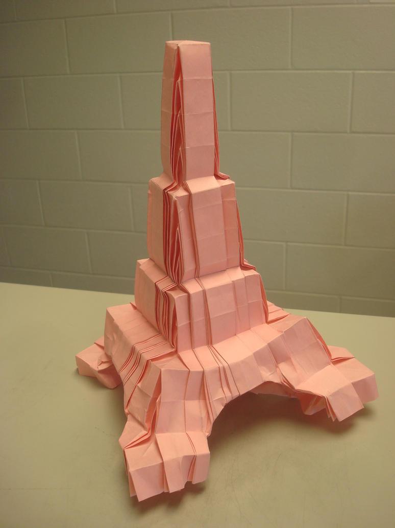 origami eiffel tower by masonandaghast on deviantart