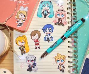 Vocaloid Stickers 1 by princesspeach5