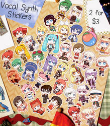 Vocal Synth / Vocaloid Stickers (36) by princesspeach5