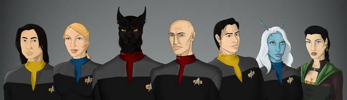 Crew of the USS Honor by NewPlanComics