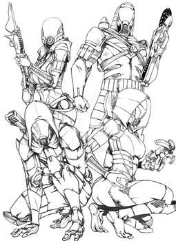 Quarian Spec Ops Team Echo Squad