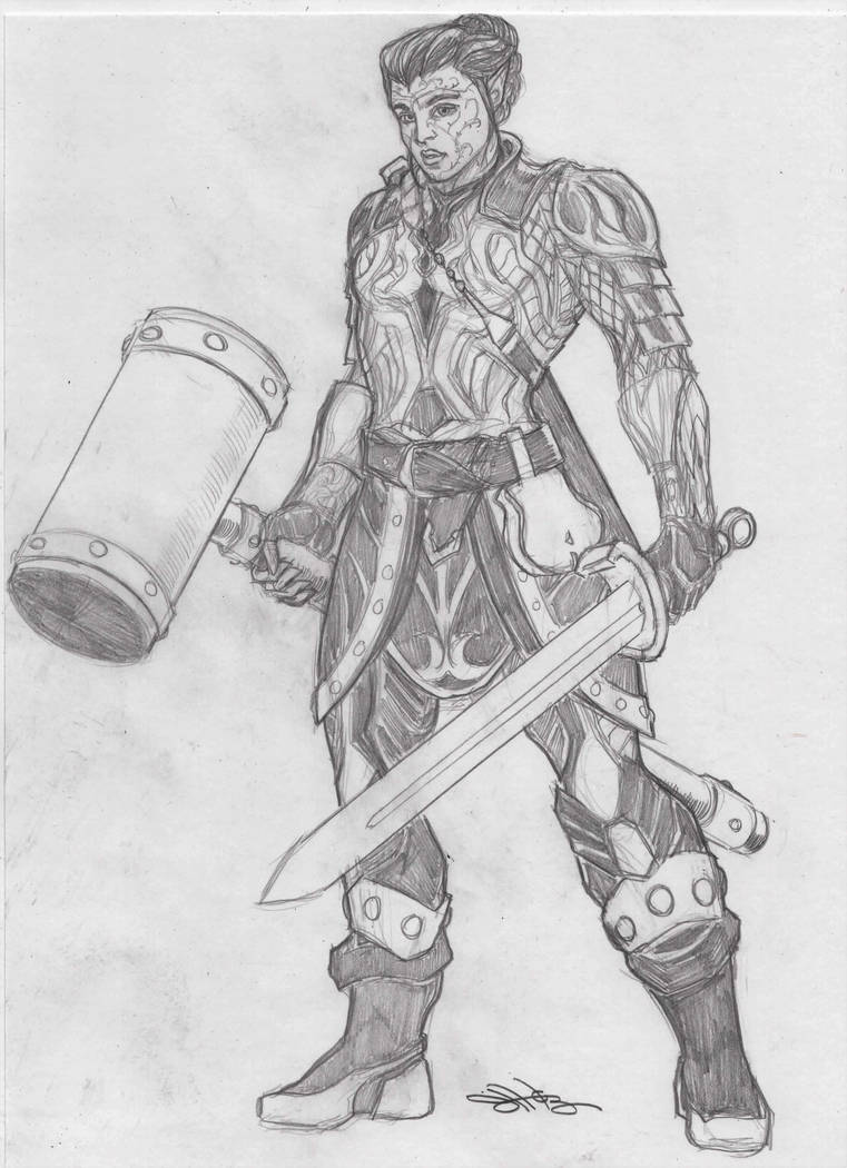 Aejn'el - Dalish Warrior by NewPlanComics on DeviantArt