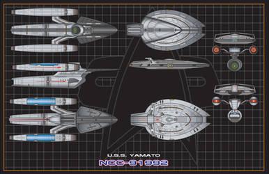 USS Yamato (NCC-91992) Separation View by NewPlanComics
